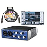 Presonus Audiobox USB DAW Recording Bundle with Studio One Artist Recording Software and 10ft Comprehensive Performer Series Premium XLR Cable