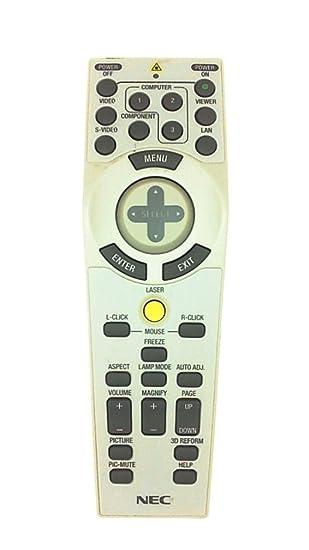 Mando a Distancia para NEC 7N900691 LT280G proyector, Color Blanco ...