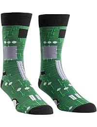 Circuit Board Mens Crew Socks OS,Green,One Size