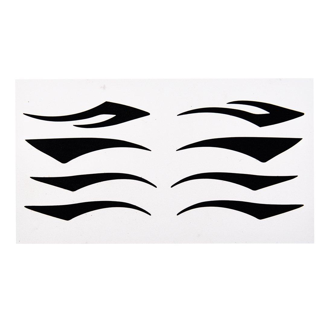 SODIAL(R) 4 Paires Autocollants de la paupiere Tatouage - Noir 047924