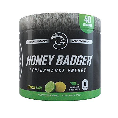 Honey Badger Performance Energy , Lemon Lime / 30 Servings / Pre-Workout