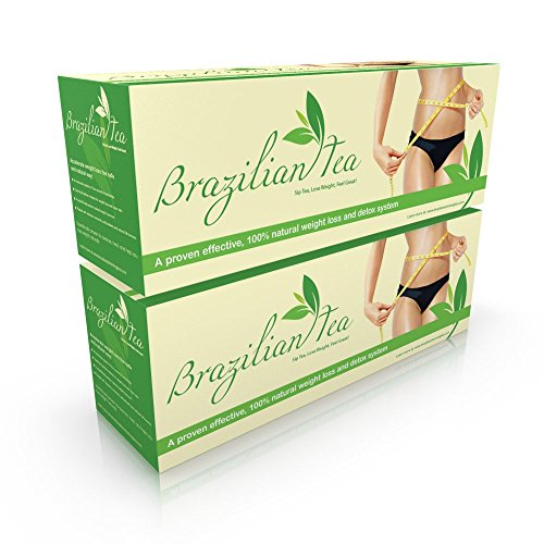Brazilian Herbal Tea - Lose Belly Fat Slimming Tea! Best Weight Loss Tea, Detox Tea, Herbal Slimming Tea, Body Cleanse, Teatox, Fat Burner & Appetite Suppressant, All The Best Fat Burners with Green, Oolong, Pu'erh Tea