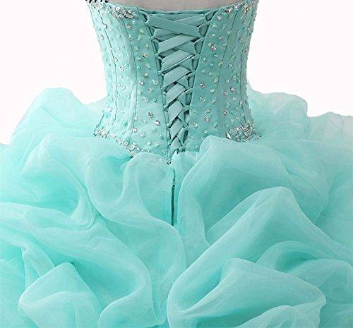 Quinceanera Ball WJ1031 Gowns Dresses Beaded Sparkly Prom AIJIAYI Sequined Women s Strapless gxaWqA