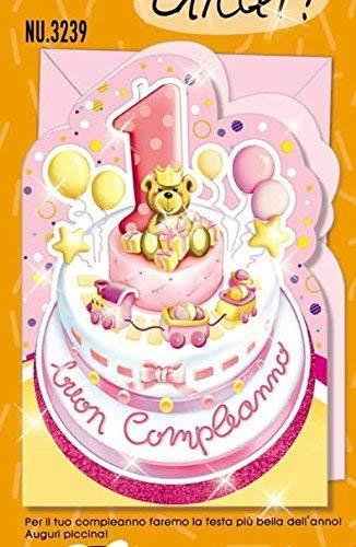 Subito Disponibile Cumpleaños Tarjeta 1 Año Chica una Pastel ...