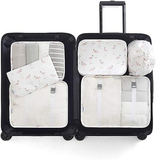 langugu compresión viaje equipaje organizadores 6 Set, malla ropa ...