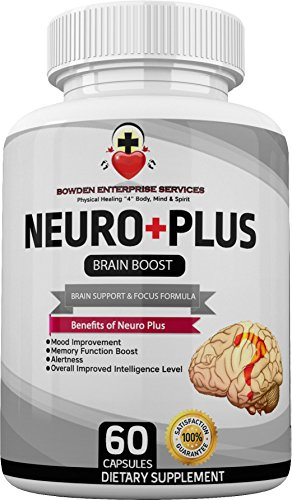 Extra Strength Brain Supplement For Neuro Plus Memory Improvement, Focus, Mood & Wellbeing For Mental Clarity (60 Vegan Capsules) Vitamins & Minerals (Vitamin A, C, D, Calcium, Magnesium & More)
