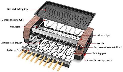 Antiadhésif électrique Grill, Rotating automatique sans fumée Grill, facile à nettoyer, le meilleur choix pour réunion de famille