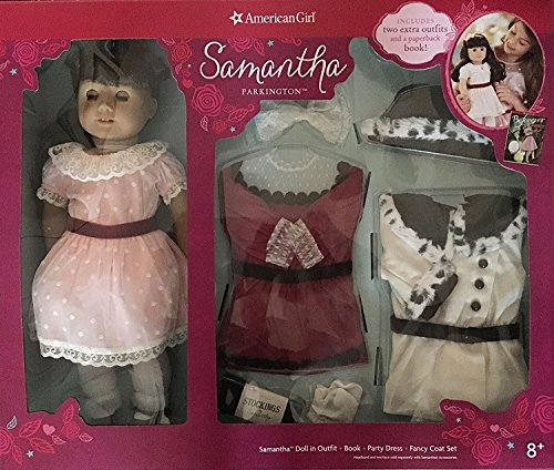 American Girl Samantha Parkington 18″ Doll and Book Set w...