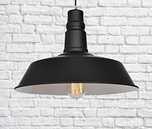 Industrial vintage style jet black kitchen pendant light retro industrial vintage style jet black kitchen pendant light retro ceiling lamp shade mozeypictures Gallery