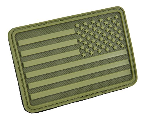 HAZARD 4 US Flag Rubber 3D Velcro Morale Patch, Right Arm, O