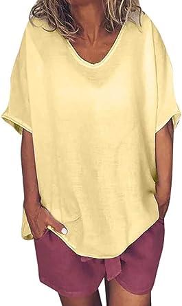 POINWER - Camiseta para mujer con cuello en V, manga corta, diseño de murciélago
