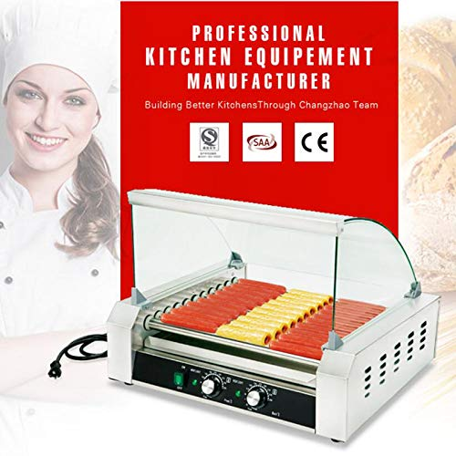 Intbuying 110V US Seller items Popcorn Commercia Hot Dog 7 Roller Grilling Machine Hot Selling by INTBUYING (Image #5)
