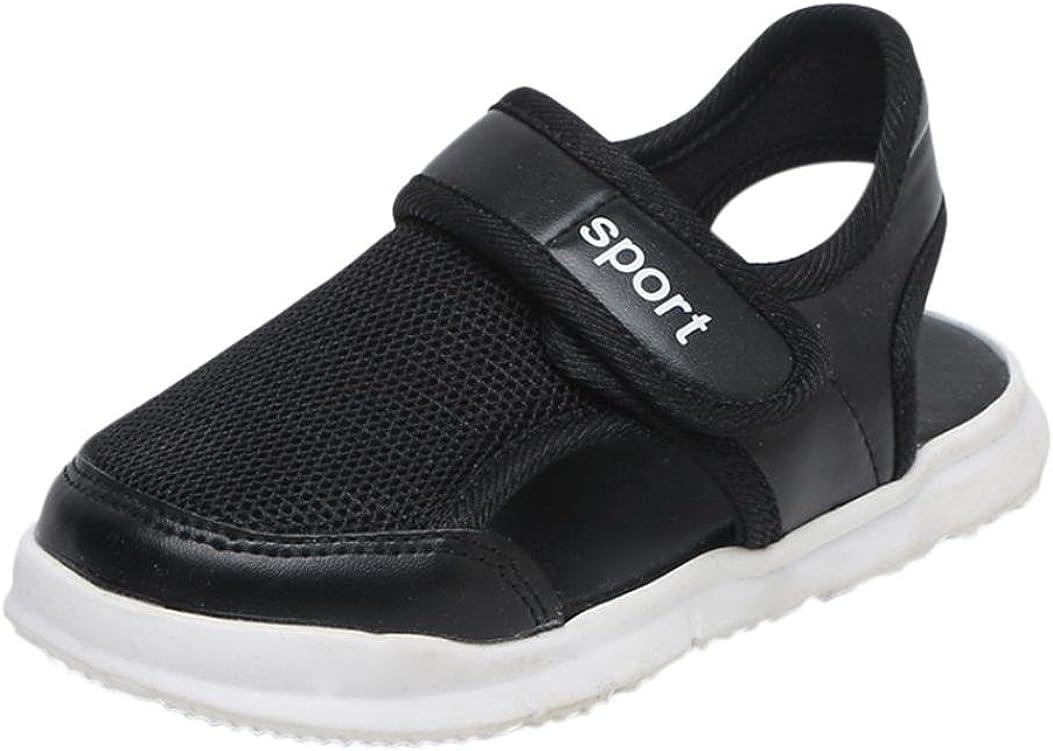 Voberry@ Toddler Kids Mesh Sneakers Boys Girls Lightweight Sport Running Casual Slip On Shoe