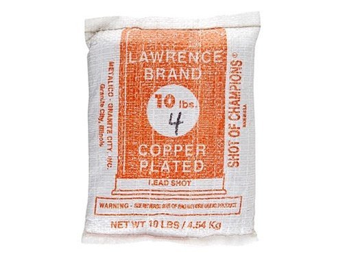 Lawrence Copper Plated Lead Shot #4 10 lb Bag