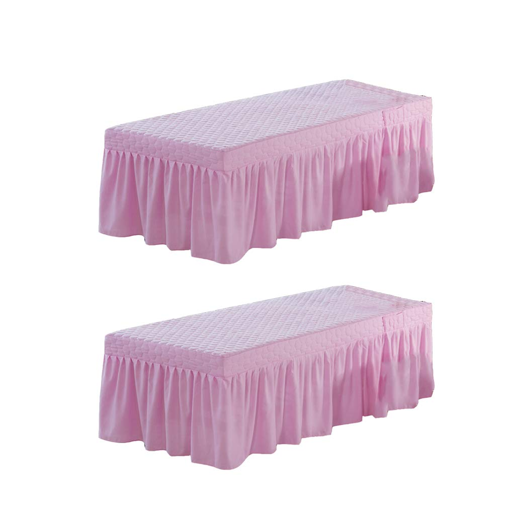 """Solid Massage Table Skirt Bed Valance Sheet Cover w// Face Hole 73x28/"""" White"""