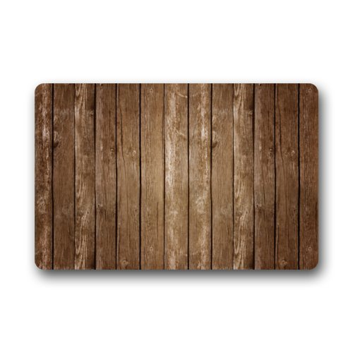 Cara Lawson Vintage Vertical Stripes Wood Pattern Print Stain Resistant Color Doormats Floor Mat Door Mat Rug Indoor/Outdoor Mats Welcome Doormat 15.7x23.6 inch/40x60cm