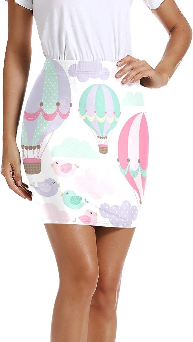 LUPINZ - Mini Falda elástica para Mujer con diseño de Globo de ...