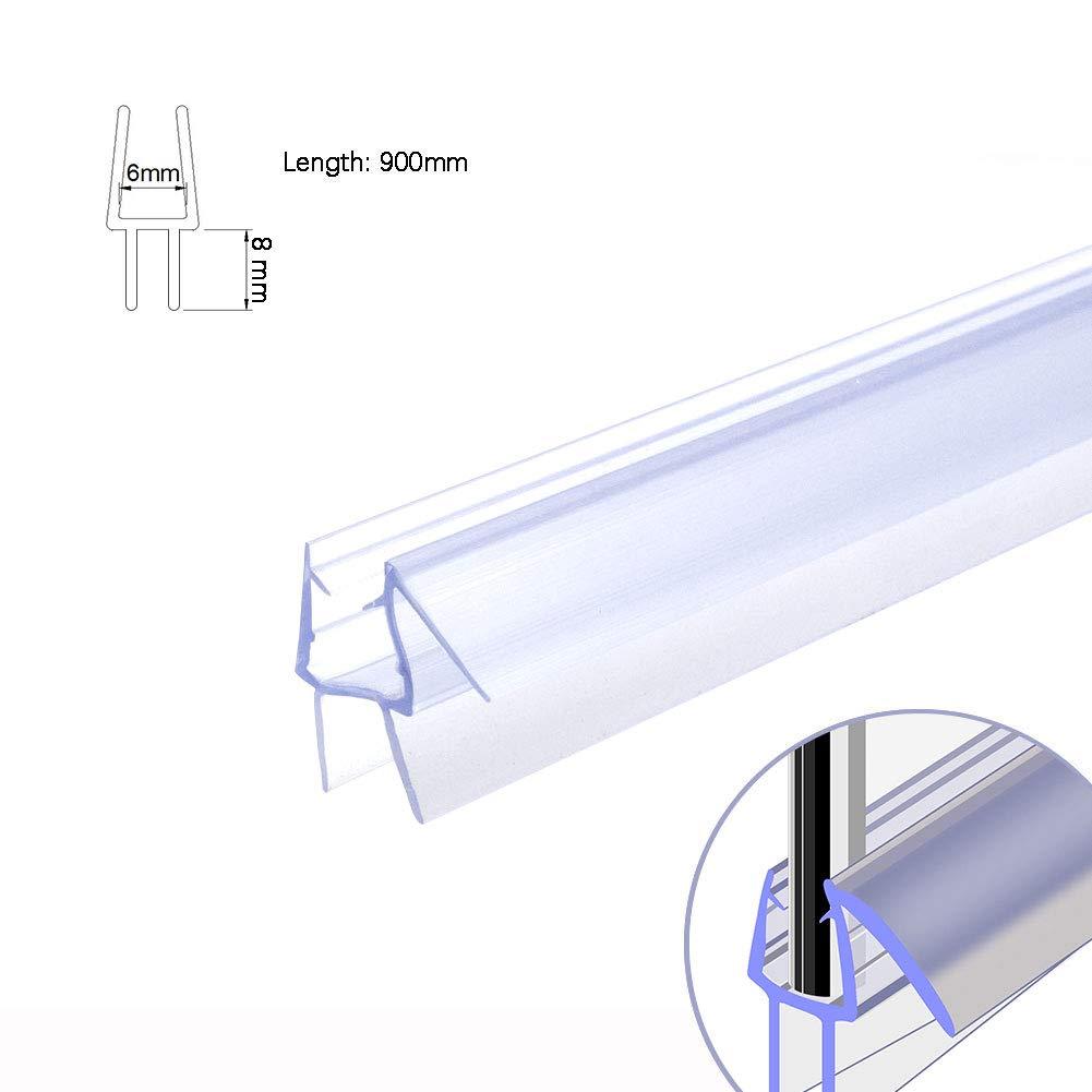 Illuminer La Maison Sealing Strip Bath Shower Screen Door Seal Strip for Glass Thickness 4-6mm Seal Gap 4-26mm (8mm) joolihome living