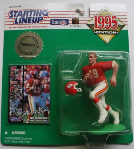 1995 Joe Montana Midwest Convention Starting Lineup Figure (Montana Football)