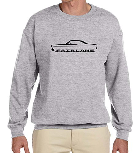 1966 1967 Ford Fairlane Hardtop Classic Outline Design Sweatshirt 3XL grey