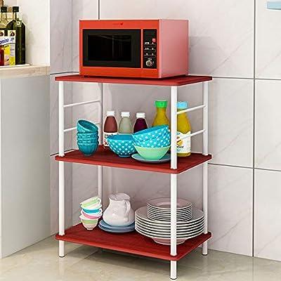 Estante de microondas Acero inoxidable cocina de la plataforma de ...