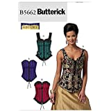 Butterick Patterns B5662 Size A5 6-8-10-12-14 Misses' Corsets, Pack of 1, White