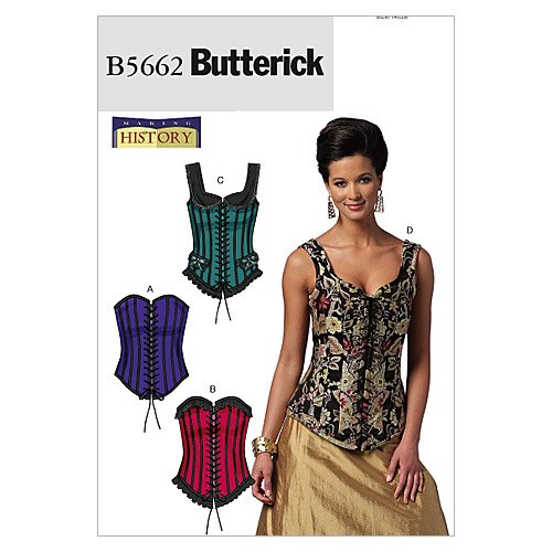 BUTTERICK PATTERNS B5662 Misses' Corsets, Size A5 (6-8-10-12-14) B5662A50
