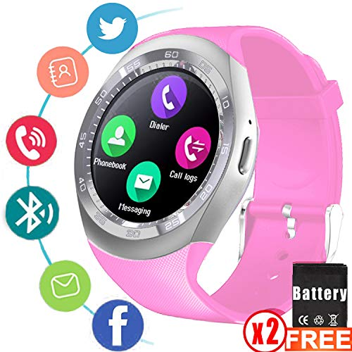 2019 Newest Smart Watch with Sim Card Slot Fitness Tracker Touchscreen Camera,Unlocked Watch Phone with Pedometer Activity Smart Wrist Watch,Smartwatch Phone Electronic Valentines Gifts for Him Her