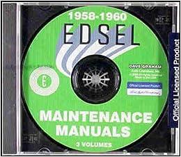 1958 1959 1960 edsel ford factory repair shop & service manual cd  multimedia cd – unabridged, 2015
