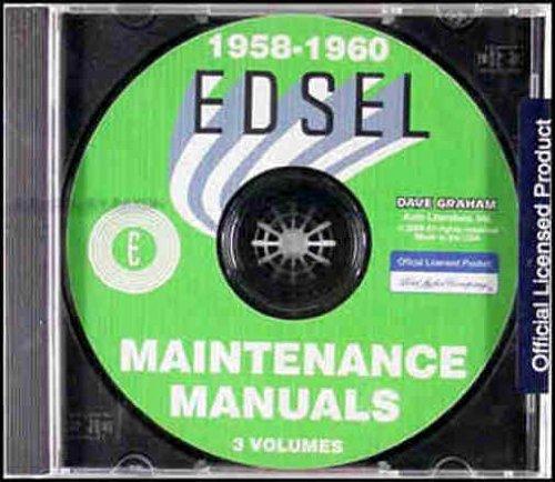 1958 1959 1960 EDSEL FORD FACTORY REPAIR SHOP & SERVICE MANUAL (Edsel Villager)