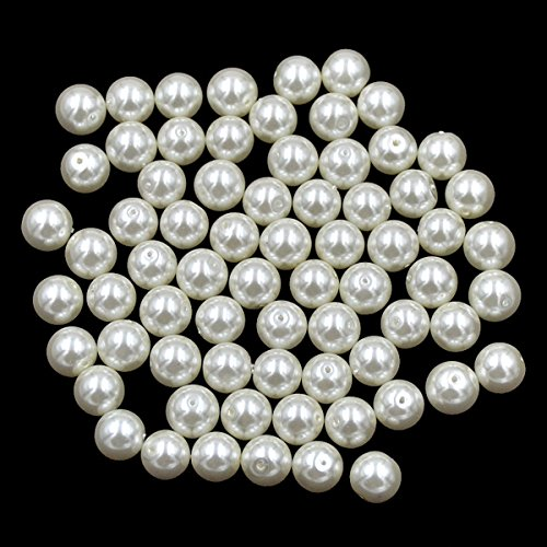AD Beads Top Quality Czech Glass Pearl Round Loose Beads 3mm 4mm 6mm 8mm 10mm 12mm (6mm (200 Pcs), Cream) ()