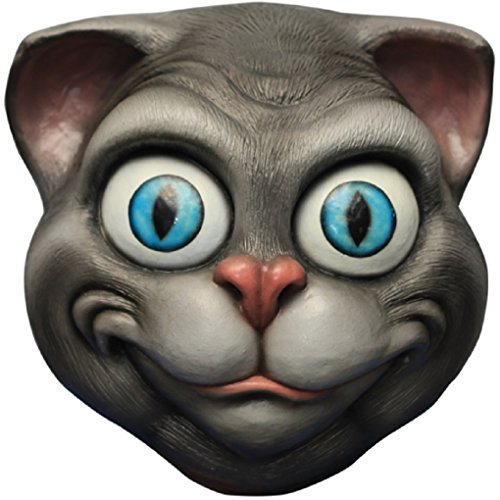Grey Cheshire Cat Adult Latex Mask -