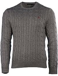 Men's Pony Cable Knit Crewneck Sweater