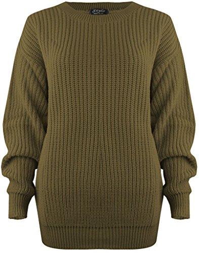 Vanilla Inck Damen Pullover schwarz * One size Khaki