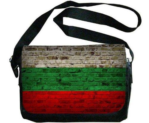 ブルガリア国旗レンガ壁デザインメッセンジャーバッグ   B00F1YBZQI