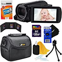 Canon VIXIA HF R700 Full HD Camcorder with 57x Advanced Zoom - Black (International Version) + 7pc 32GB Accessory Kit w/ HeroFiber Ultra Gentle Cleaning Cloth