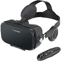 AOGUERBE Casques de Réalité Virtuelle, Lunettes 3D VR avec Bluetooth Télécommande Headset Box pour VR Jeux et Films 3D Compatible avec iPhone X / 8/7 / 8 Plus / 6S Samsung S8 / S7 et Smartphones