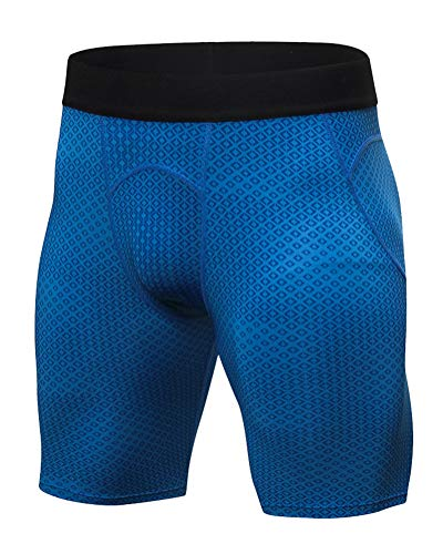 Per Sport Blu Mezza Uomo Compressione Da Suncaya Pantaloncini A Coscia qH016