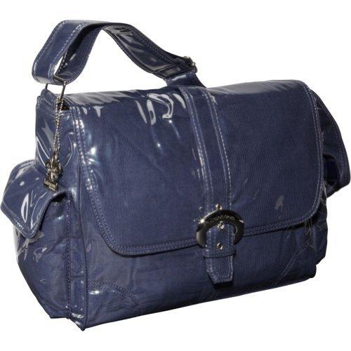 Kalencom Laminated Buckle Bag, Navy Corduroy