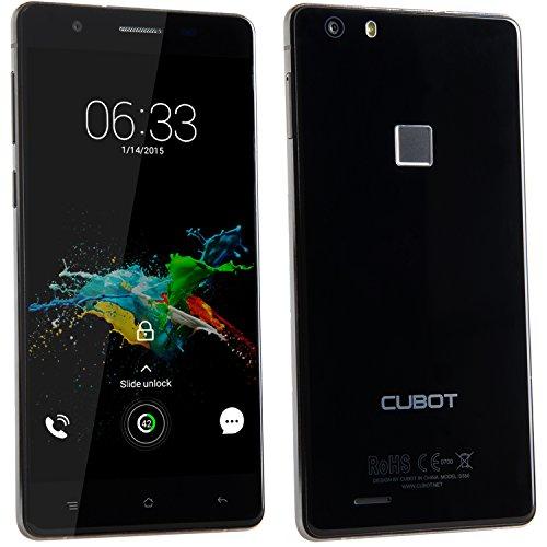 Cubot S550Pro 4G FDD-LTE Smartphone Ohne Vertrag Handy, 5.5 Zoll HD Touch Display mit 0.3s Fingerabdruck Sensor, 3GB RAM+16GB ROM, Android 5.1, 13MP/8MP Dualkameras, Quad-Core Prozessor 1.3GHz, Dual SIM Karten Daul Standby für T-mobile, Vodafone, o2-de, E-Plus usw (Schwarz) [ Cubot Offiziell ]