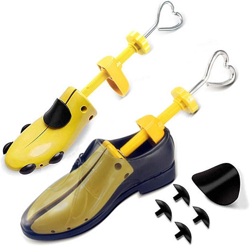 ZusFut 2PCS Hormas Zapatos Mujer Hombre Robusta Ensanchador de Zapatos Ajustable Longitud y Anchura Independiente Horma Ensanchar Zapatos