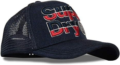 Superdry Mega Logo Cap Gorra de béisbol, Negro (Black 02A), Talla ...