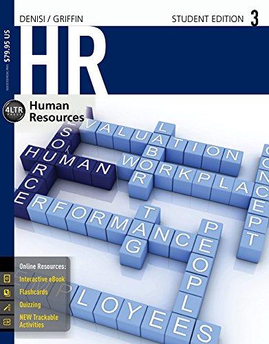 Bundle: HR 3  + CourseMate, 1 term (6 months) Printed Access Card + LMS Integrated for CourseMate, 1 term (6 months) Pri