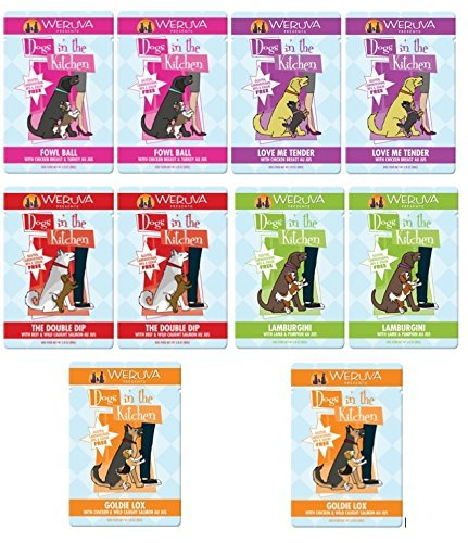 Weruva Dogs in the Kitchen Variety Pouch – 10 Pack – 5 Flavors