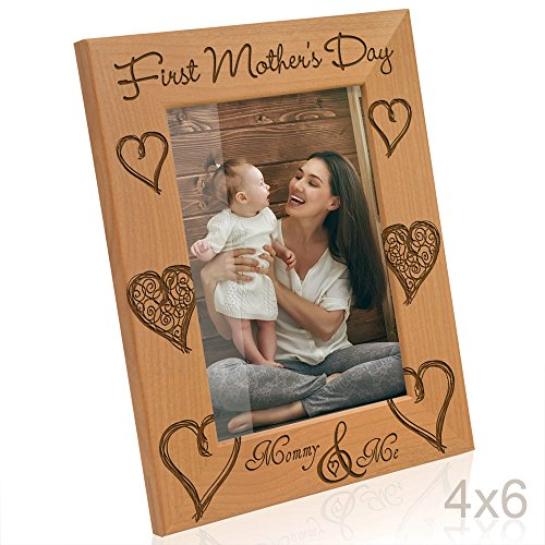 Kate Posh - First Mother's Day with Mommy & Me Picture Frame (4x6 - Vertical)]()