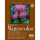 """Strathmore 472-9 400 Series Watercolor Block, Cold Press, 9""""x12"""" Bound (4 sides), 15 Sheets/Block"""