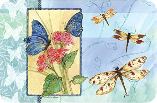 Wipe-Clean Reversible Plastic Placemats - Set of 4 - Butterfly Sketchbook