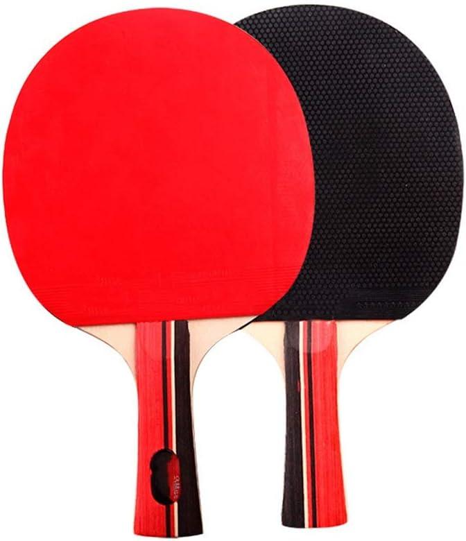 YBWEN Paleta de Ping Pong Conjuntos de Dos de los Principiantes Mesa de Ping Pong Raquetas de Estudiantes de Entrenamiento de Tenis de Mesa Raquetas Se Dan la Mano Grips