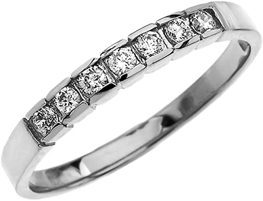 14K White Gold Diamond Plate Band Fashion Band Anniversary Band Wedding Band Yellow Gold Rose Gold Stackable Band Promise Band Platinum