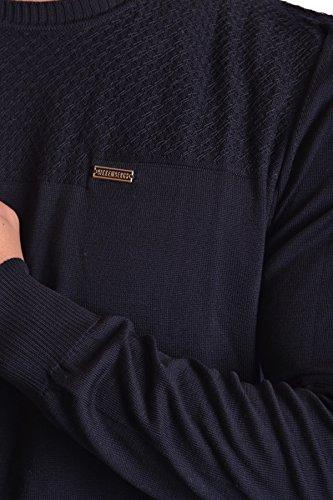 Bikkembergs Homme MCBI042040O Bleu Coton Maille
